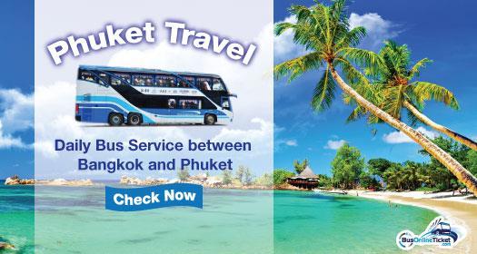 Daily bus services offered by Phuket Travel between Bangkok and Phuket