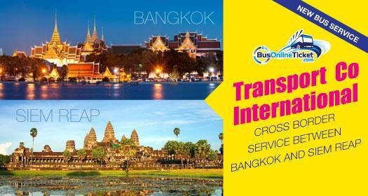 Transport Co International cross border service between Bangkok and Siem Reap