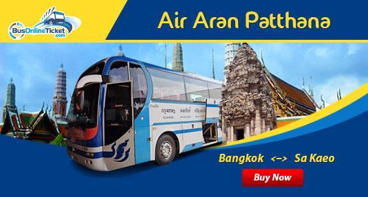 Air Aran Patthana offers bus service for Bangkok, Sa Kaeo, Prachinburi and Nakhon Nayok