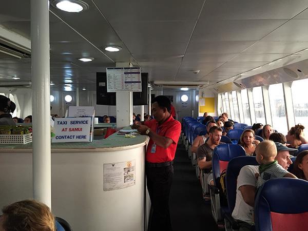 Inner View of High Speed Catamaran Ferry