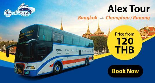 Alex Tour offers bus service for route Bangkok - Chumphon - Ranong. Book Now!