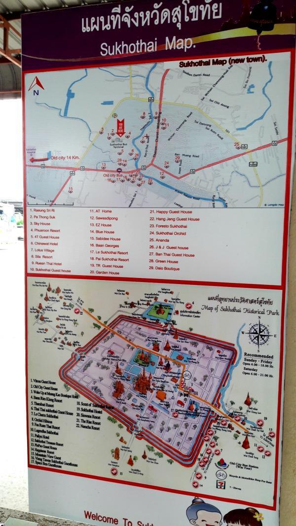 Sukhothai Bus  Station - Map
