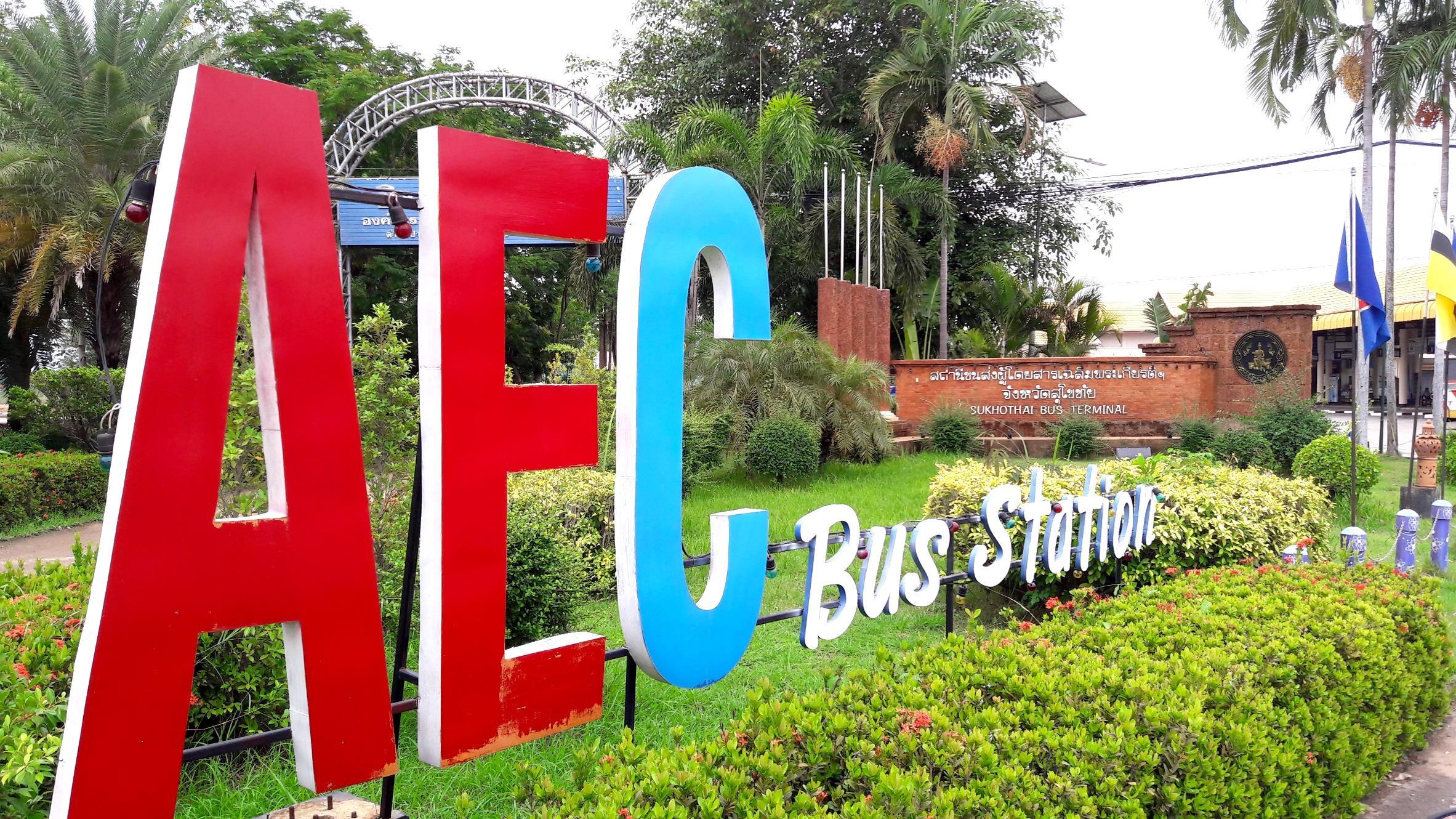 Sukhothai Bus Station - Sign 3
