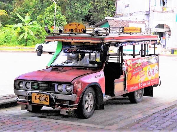 Songthaew in Ranong Bus Terminal