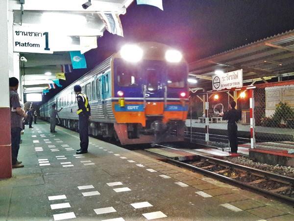 Train in Surat Thani Railway Station