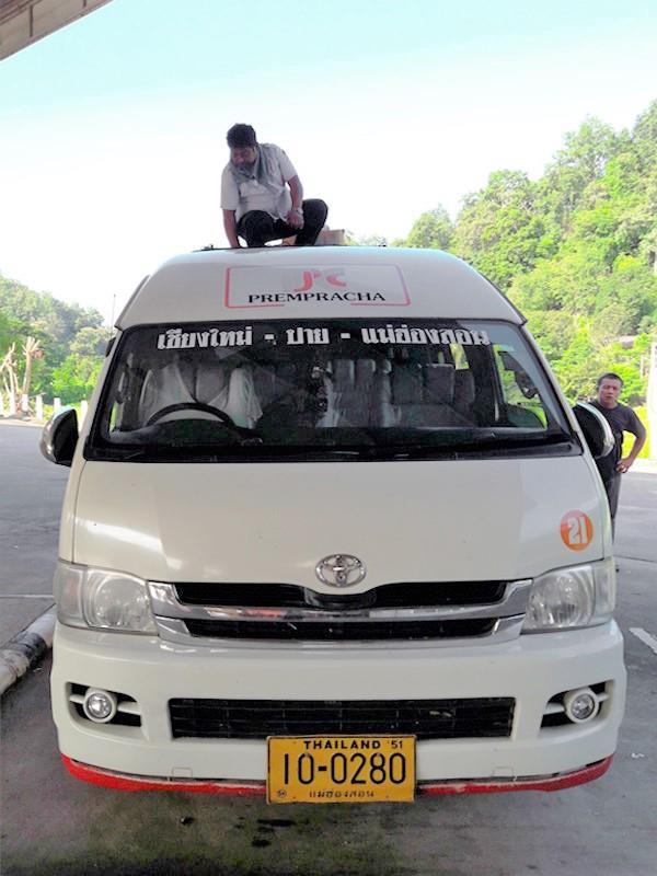 Exterior view of Prempracha minivan