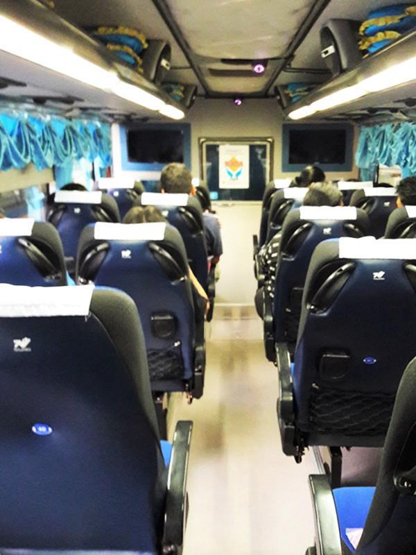Interior in Sombat Tour bus