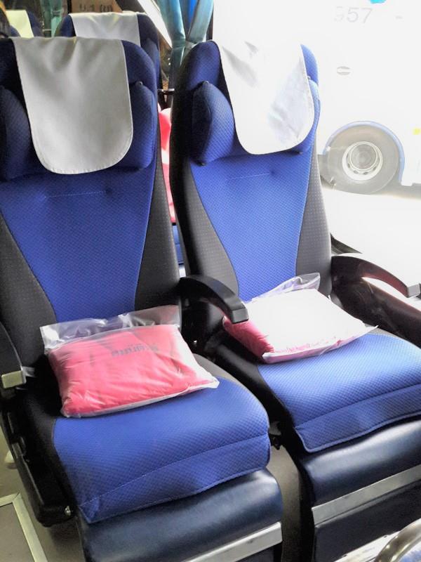 Seats in Sombat Tour bus