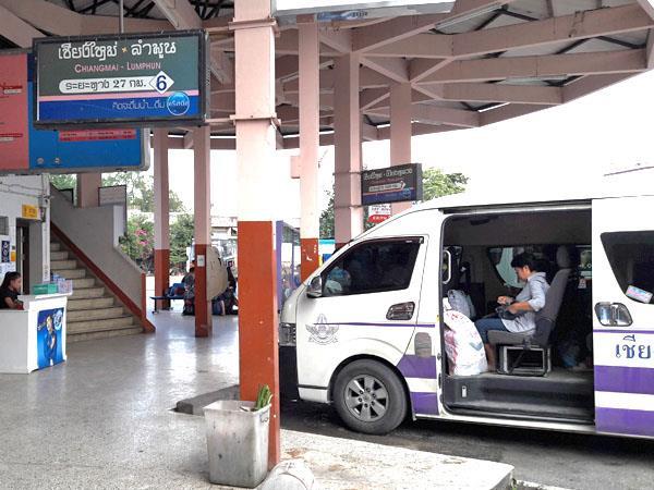 Minivan platform at Chang Phueak Bus Station