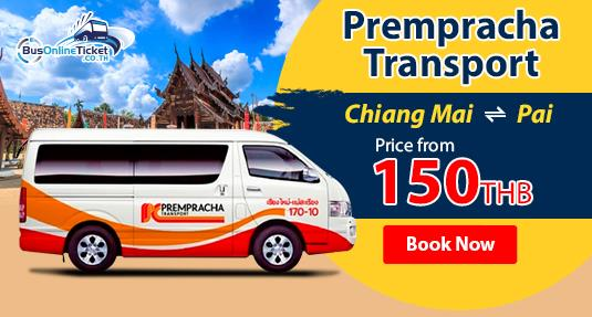 Prempracha Transport offer transport from Chiang Mai to Pai price from 150THB