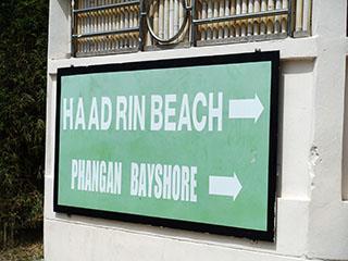 Haad Rin Beach Signboard