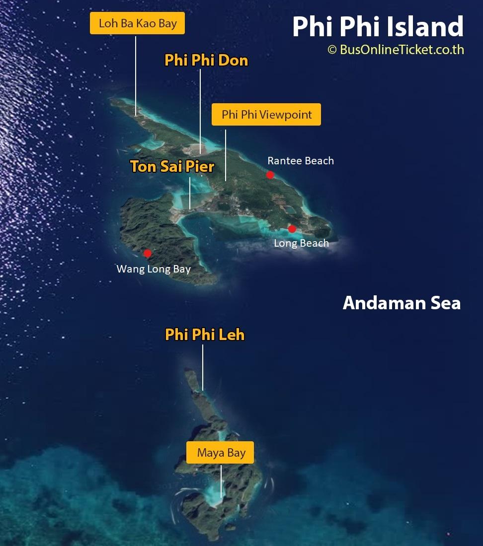 The Phi Phi Beach Resort Map: Bus Online Ticket