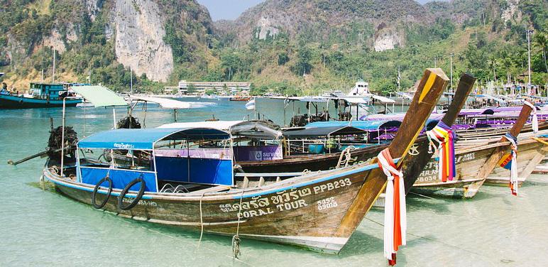 Tonsai Pier in Phi Phi Island