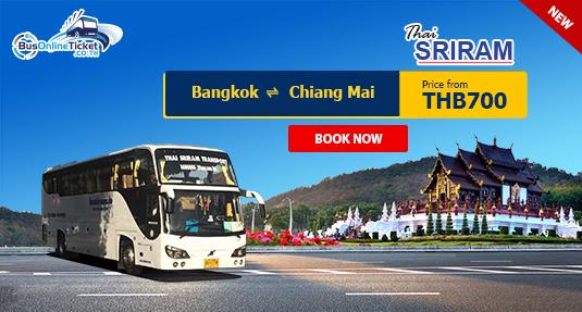 Thai Sriram Transport offers bus from Bangkok to Chiang Mai