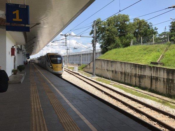 ETS Train Platform at Padang Besar Malaysia Train Station