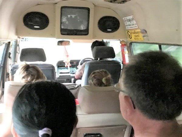 Inside minivan