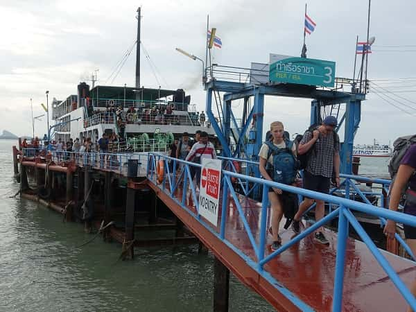 Ferry at Donsak Pier