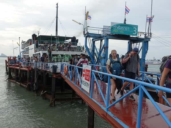 Ferry at Donsak Pier