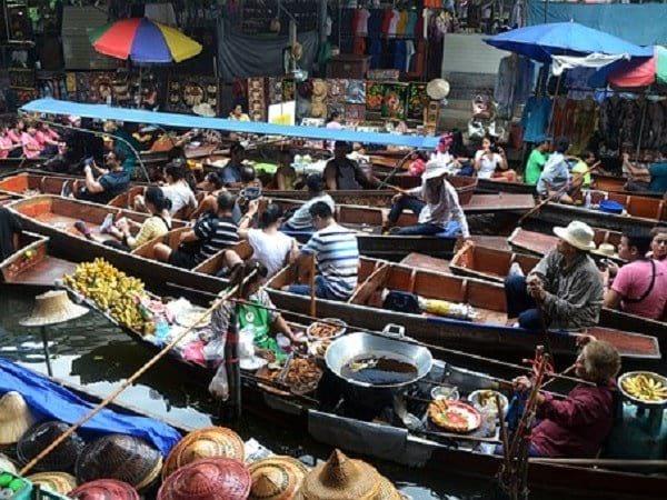 The Floating Market in BangkokThailand