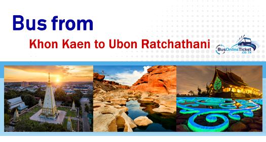 Bus from Khon Kaen to Ubon Ratchathani